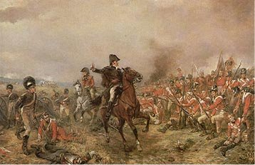The Battle of Waterloo by Robert Hillingford