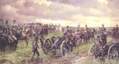 Napoleons Last Inspection Before Waterloo by J P Beadle